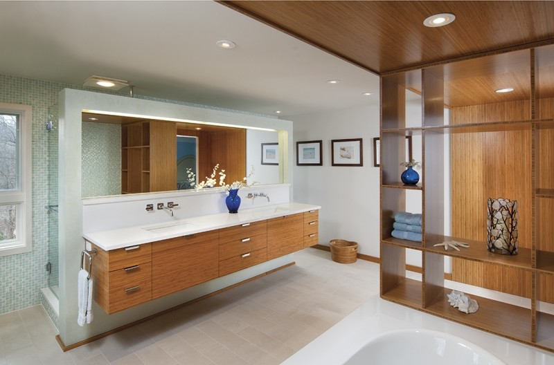bambu muebles ideas baño decoracion blanco