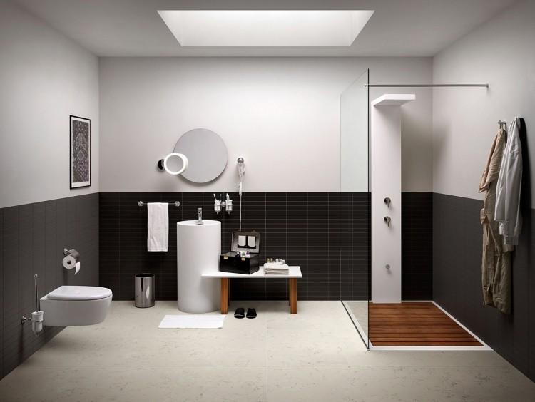bambu muebles ideas baño oscuro paredes