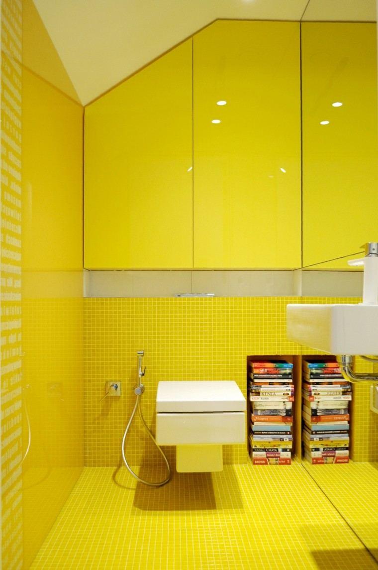 bano moderno colores vibrantes amarillo llamativo ideas