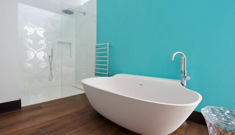 Baños Color Verde Oscuro:baños modernos colores vibrantes azul turquesa ideas