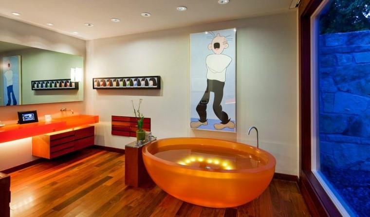 Iluminacion Baño Moderno:Baños modernos colores vibrantes para las paredes -