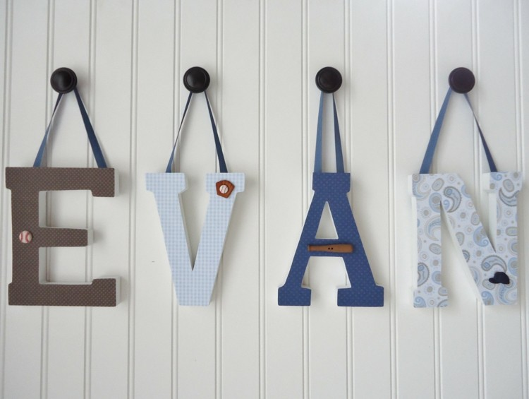 letras decorativas pared paredes colgantes cintas idea
