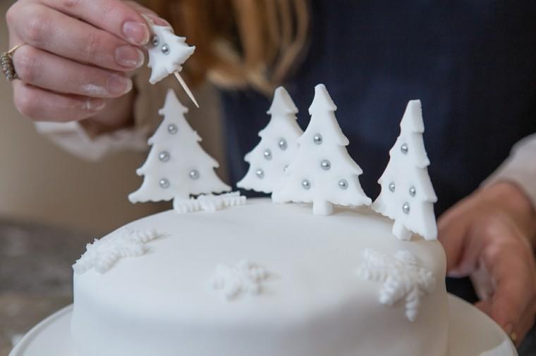 postres navideños estilo blanco detalles