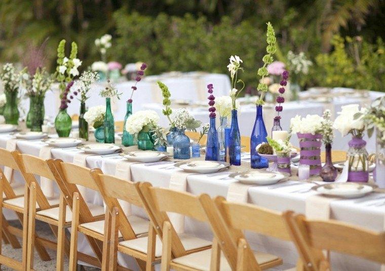 Centros de mesa para bodas 38 dise os rom nticos for Adornos jardin baratos