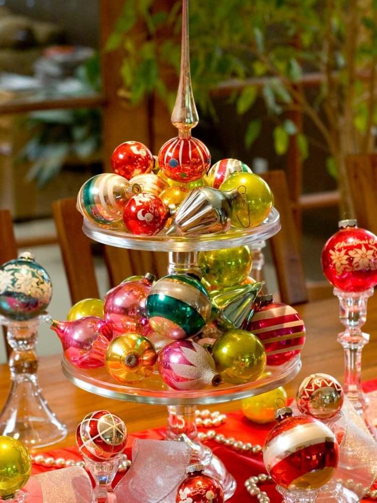 bolas de navidad diseños centros plantas