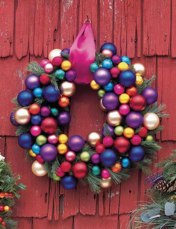 bolas de navidad diseños colores rojo