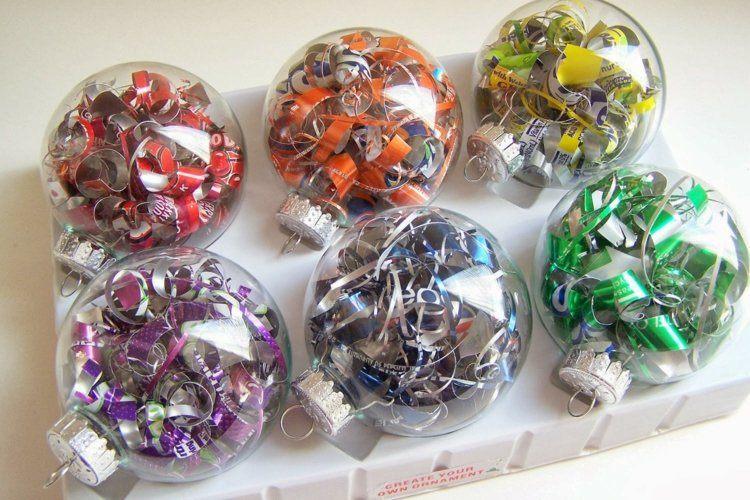 bolas de navidad diseños cristales verdes