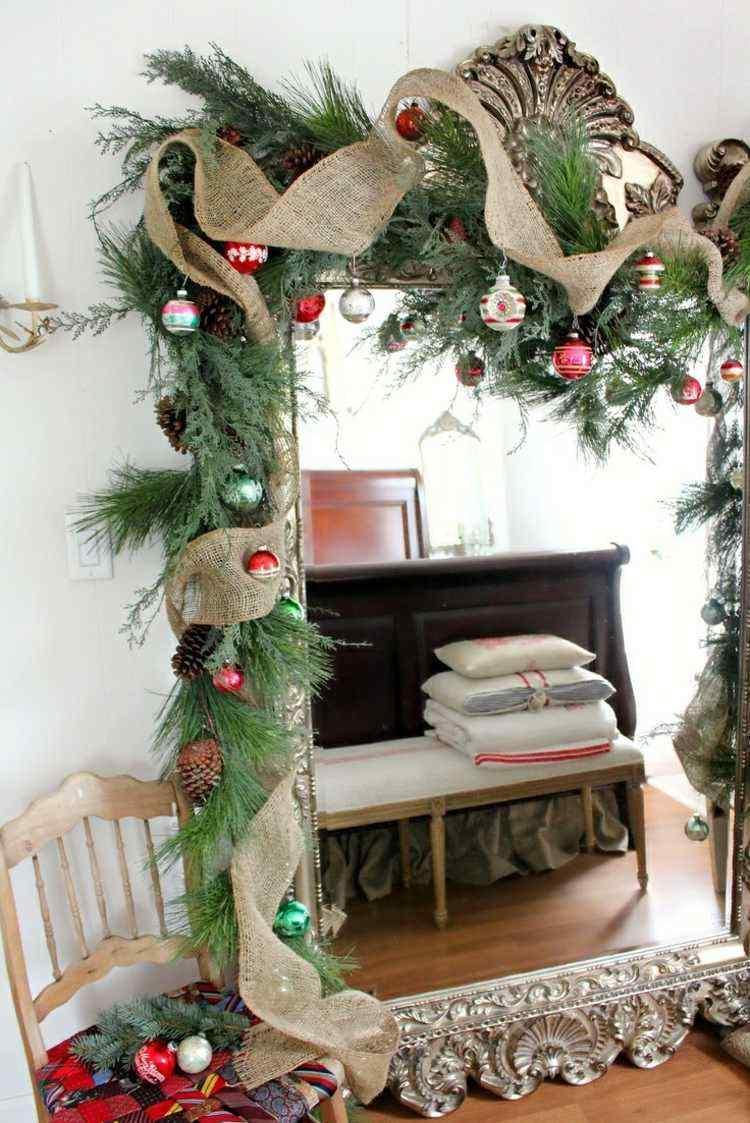 bolas de navidad diseños espejo yute