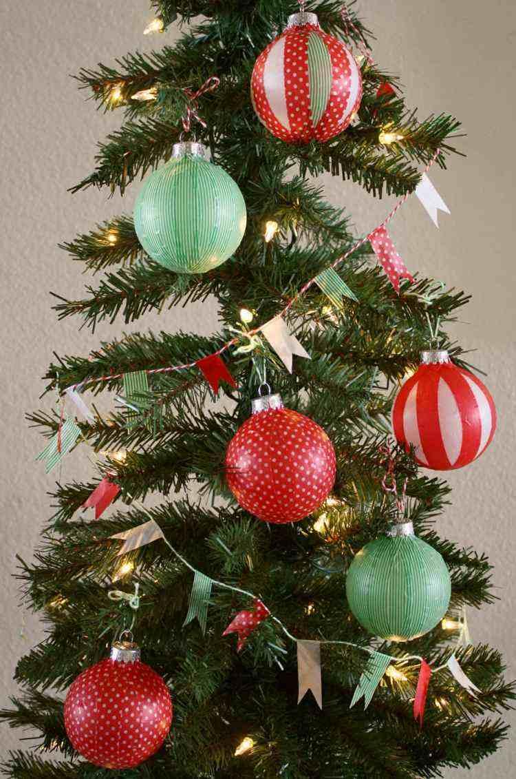 bolas de navidad diseños estilo arboles decorado