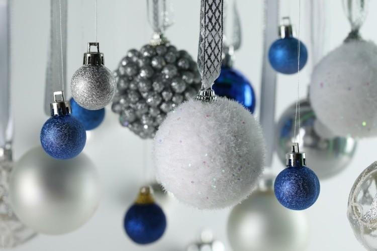 bolas de navidad diseños estilo azules moderno
