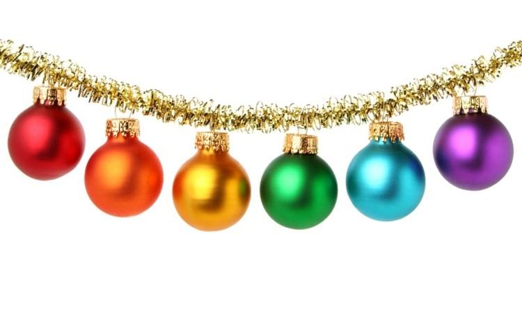 bolas de navidad diseños estilo dorado guirnaldas