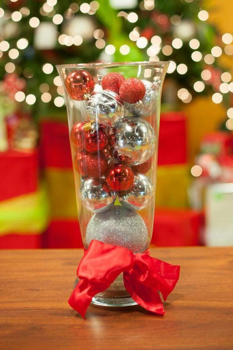 bolas de navidad diseños mesa lazo
