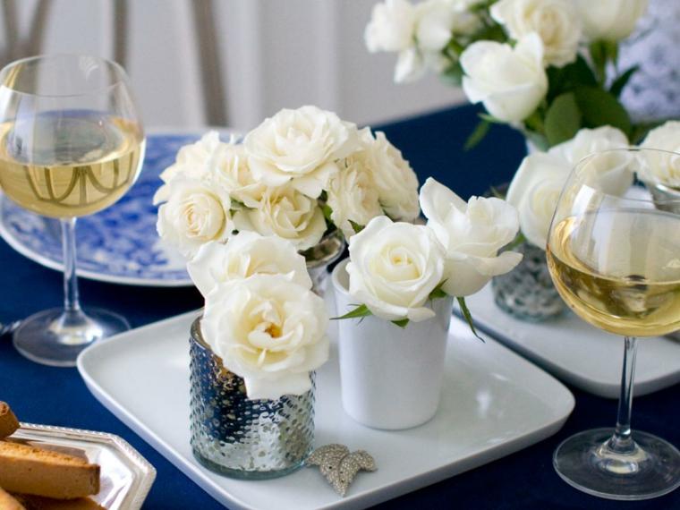 bonita decoración flores blancas