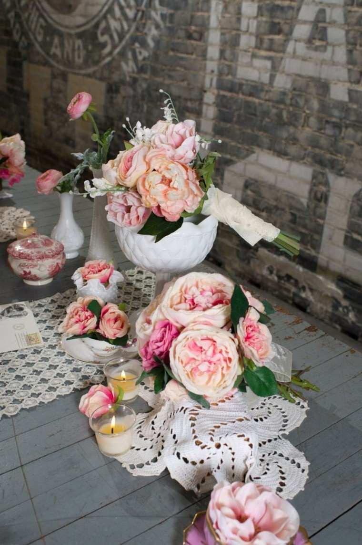 bonita decoración flores vintage