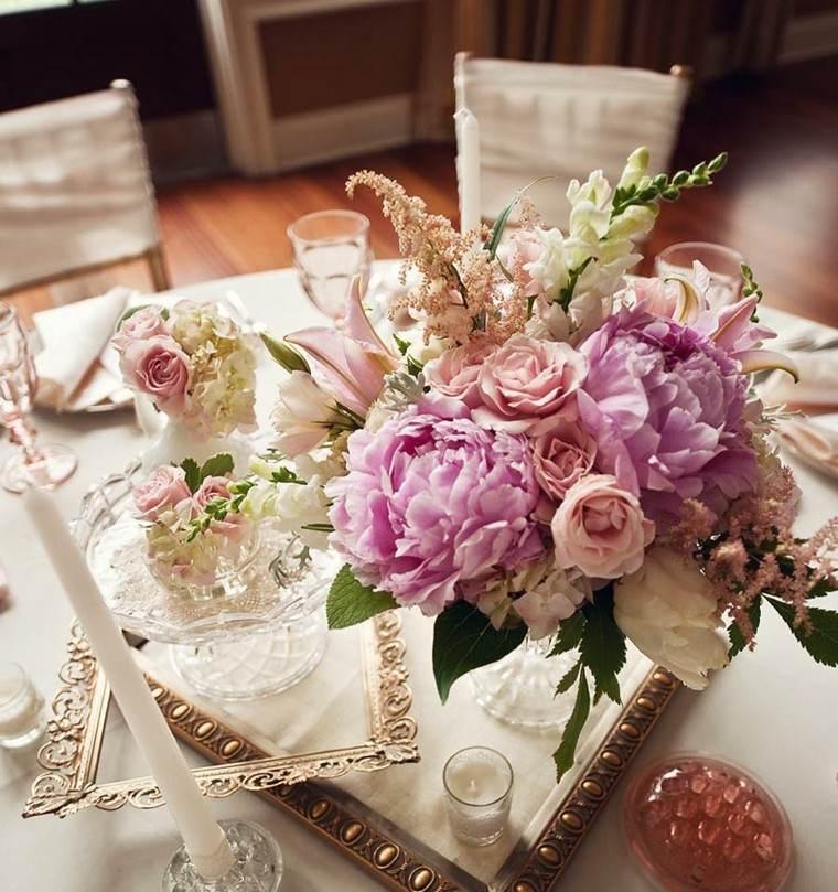 bonita foto centros de mesa para bodas