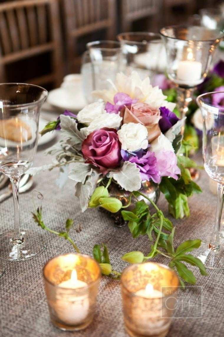 bonita mesa estilo rñustico romantico