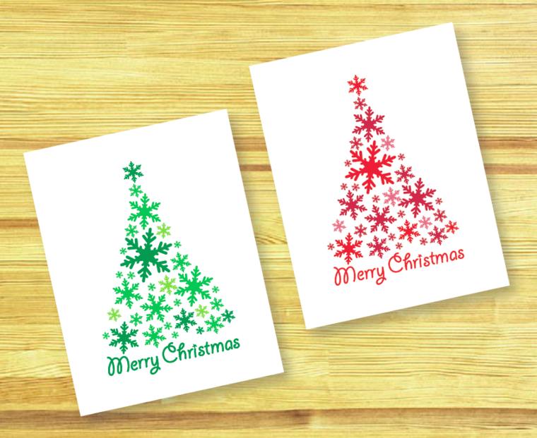 bonitas tarjetas de navidad abetos