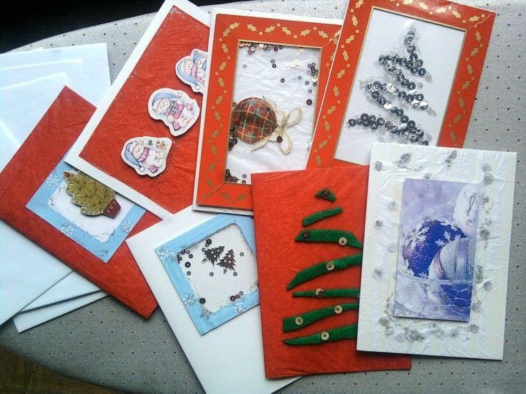 bonitas tarjetas navideñas diseño casero