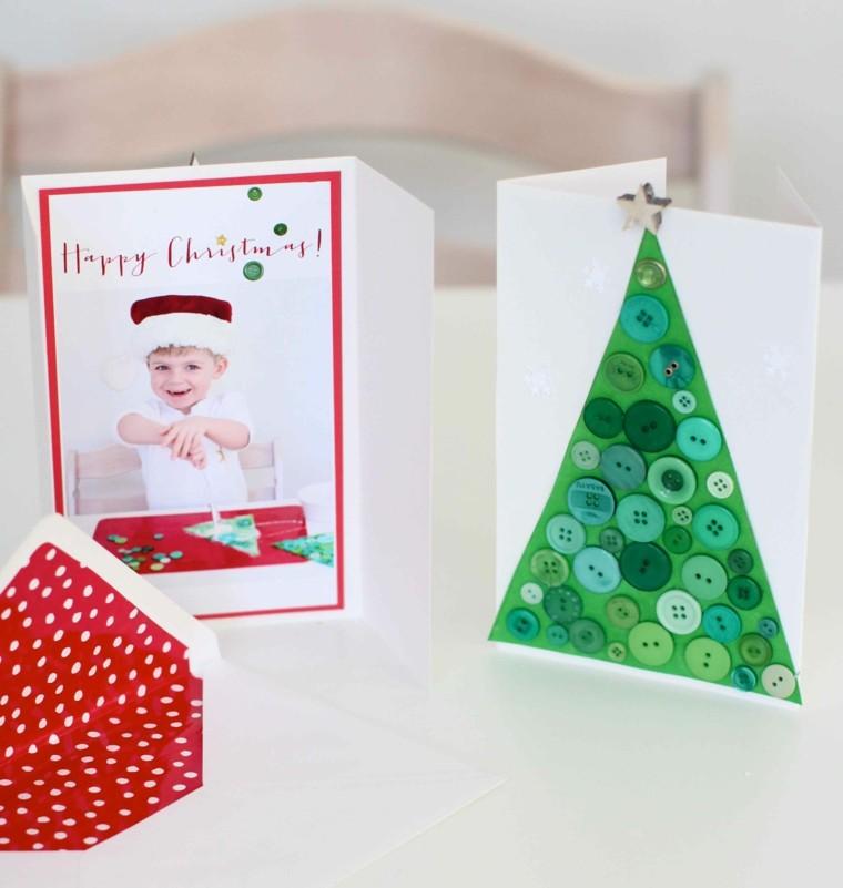 bonitas tarjetas navidad caseras fotos