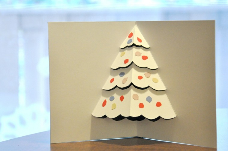 bonito diseño tarjeta navidad origami