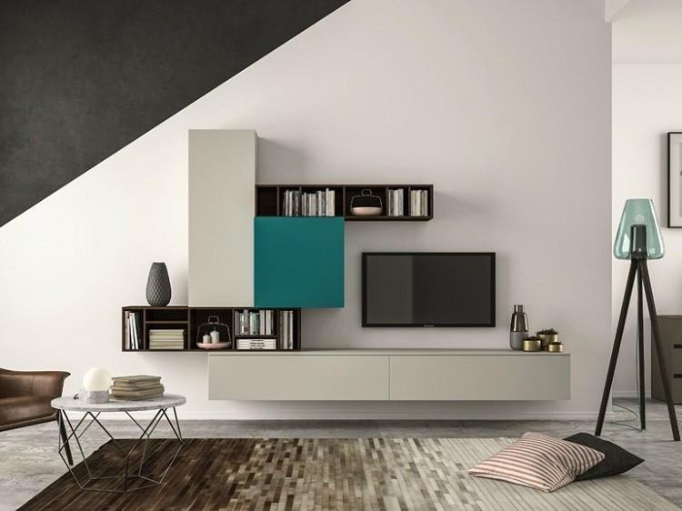Estantes de sala de estar moderna for Antecomedores modernos pequea os