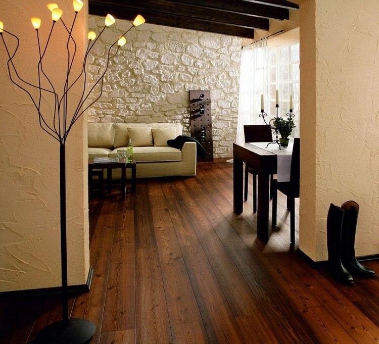 bonito suelo listones madera natural