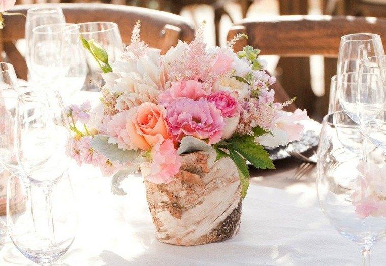 bonito centro mesa color rosa
