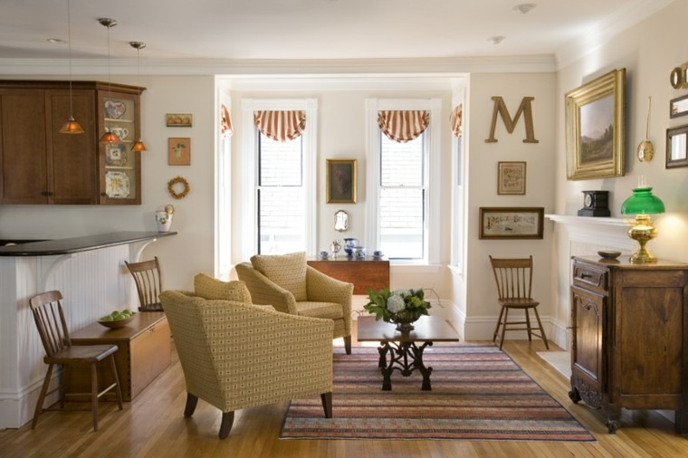 bonito diseño sala estar vintage