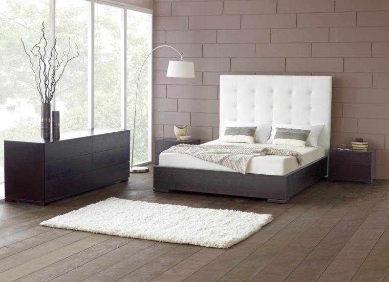 cabecero cama estilo capitone blanco