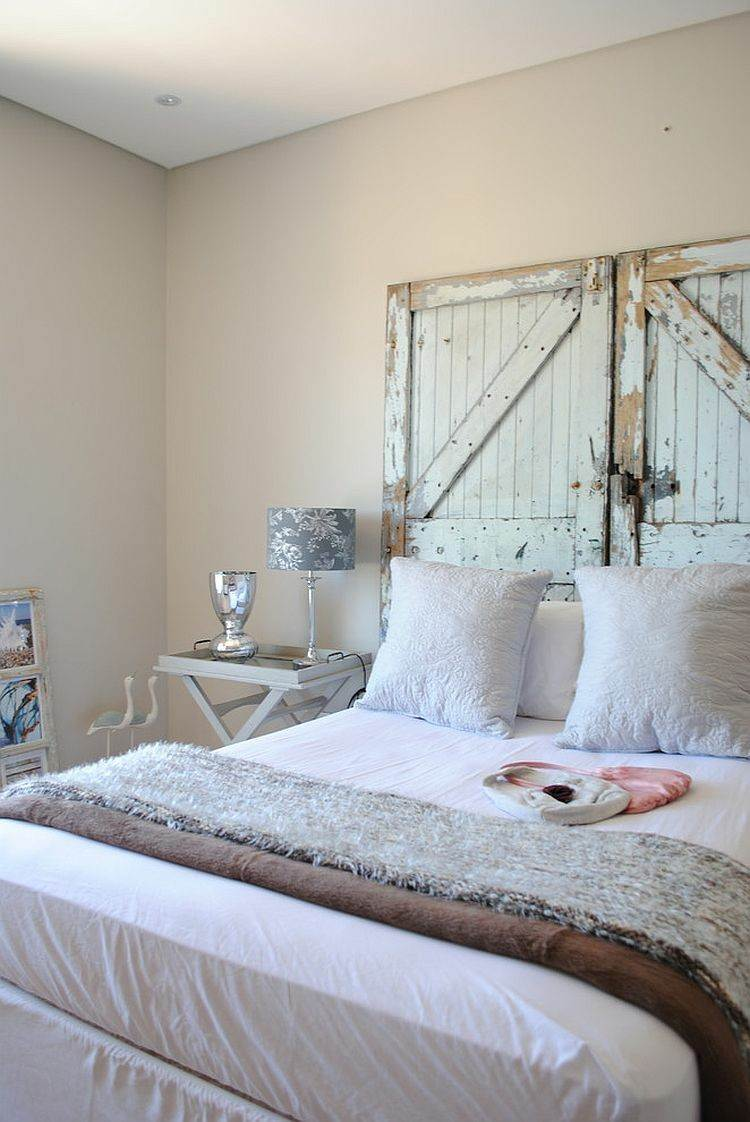 cabecero cama puertas viejas madera