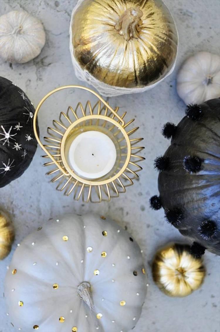 calabaza de halloween ideas decorativas centro elegante