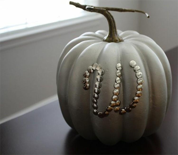 calabaza de halloween ideas puntillas grises