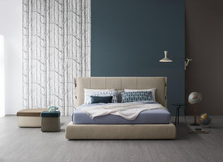 cama moderna modelo cuff beige