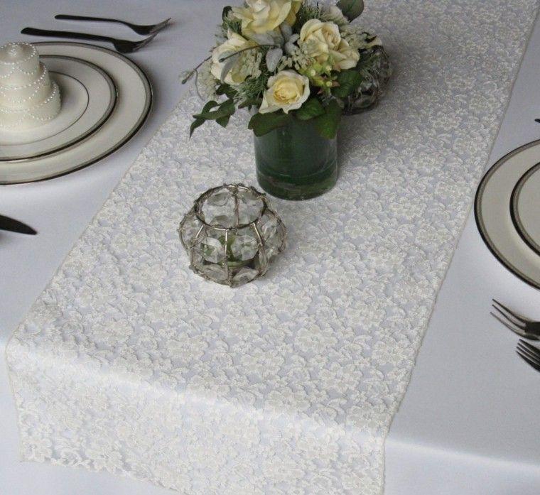 Caminos de mesa: 35 ideas para decorar la mesa -