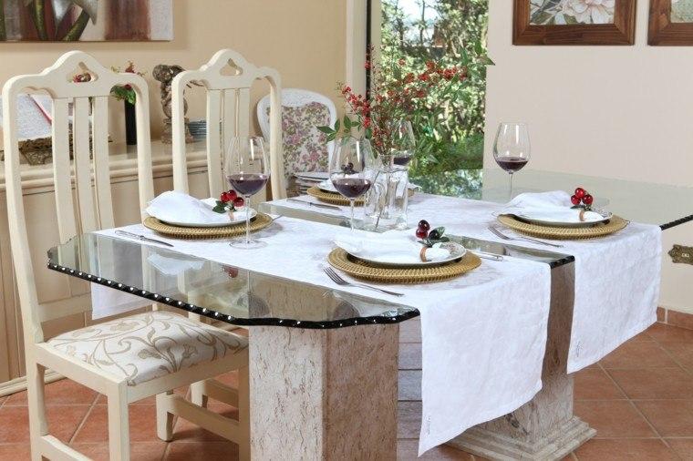 camino mesa blancos elegantes ideas