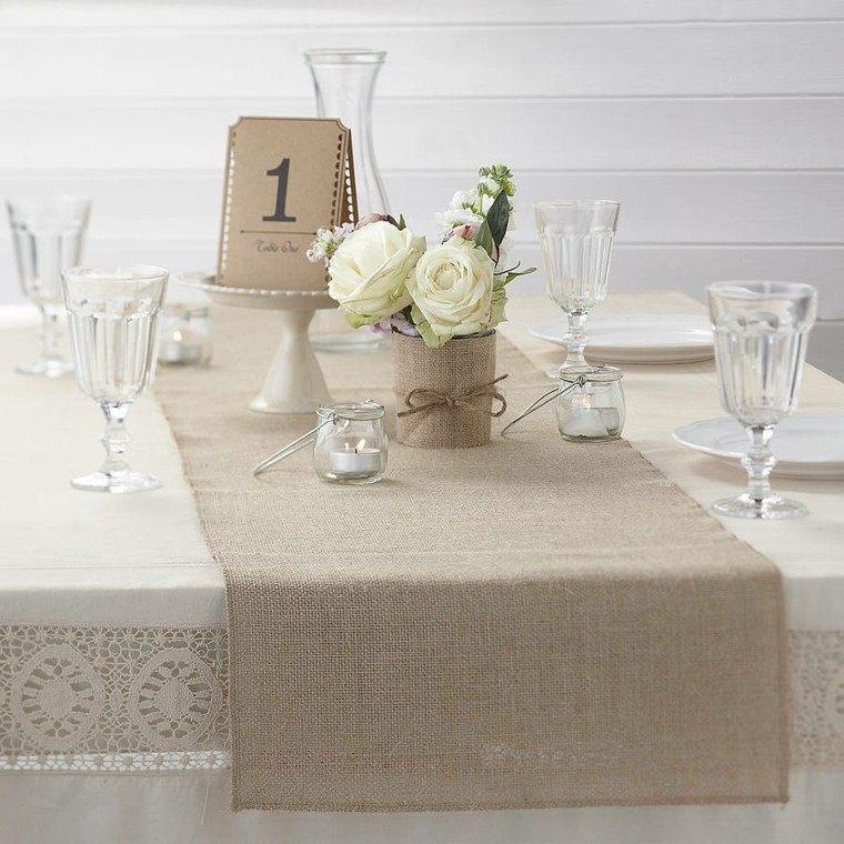 caminos de mesa 35 ideas para decorar la mesa. Black Bedroom Furniture Sets. Home Design Ideas