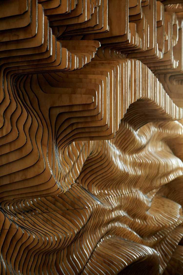 carlsberg madera decoracion lineas detalles