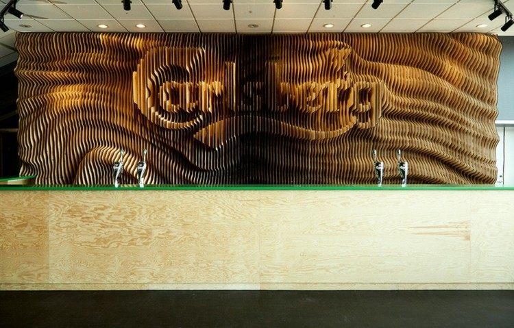 carlsberg madera paredes barra verde