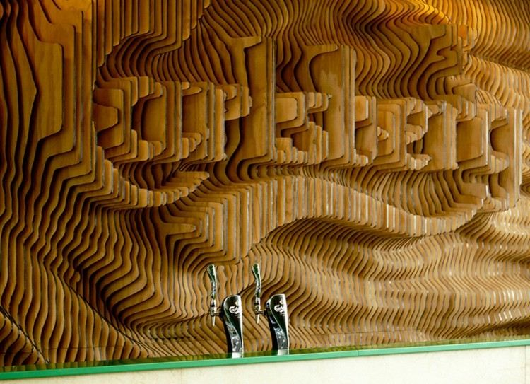 carlsberg madera paredes idea lacer movimiento