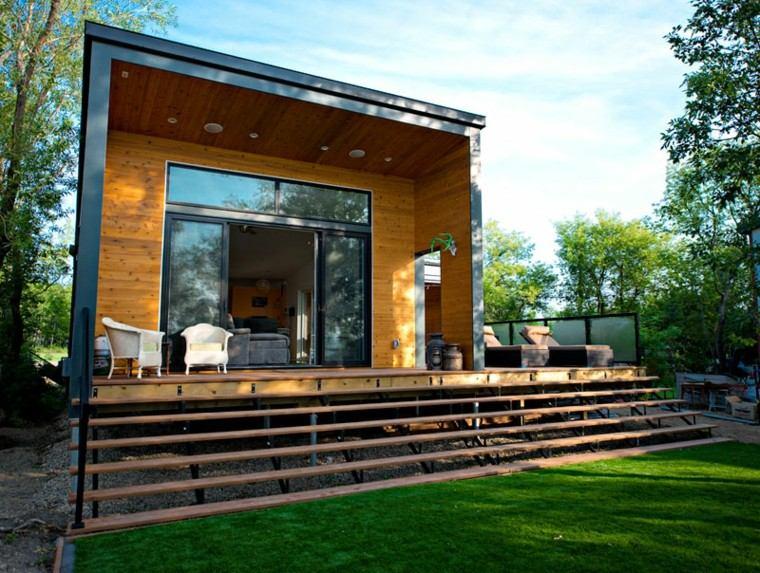 casa escaleras porche madera