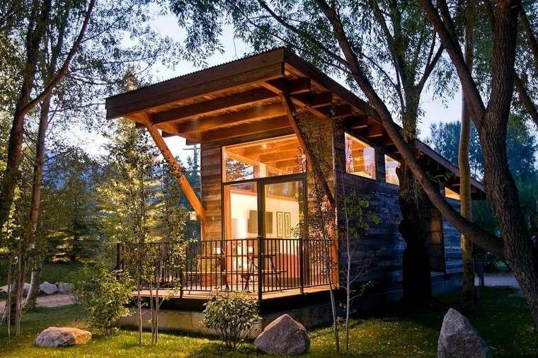 casa pequeña cabaña moderna