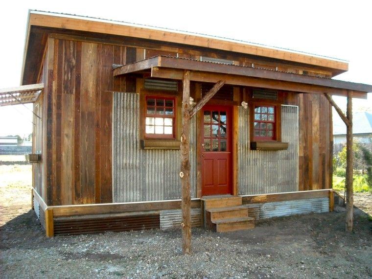 casas pequeas madera chapa