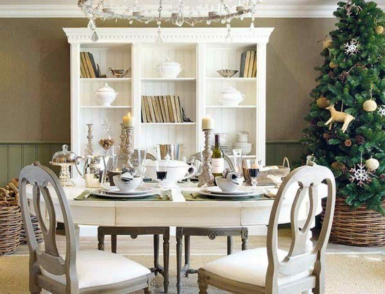 cena de navidad centros de mesa arbol maceta ideas