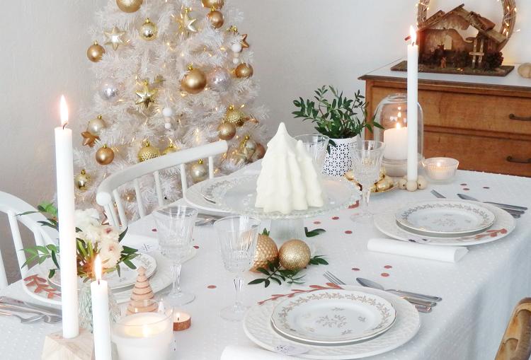 cena navidad centros mesa color blanco arbol ideas
