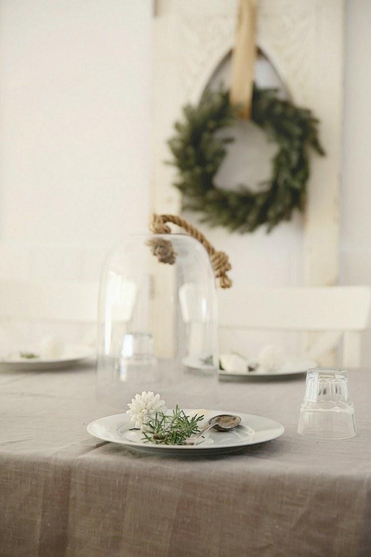 cena navidad centros mesa guirnalda ideas