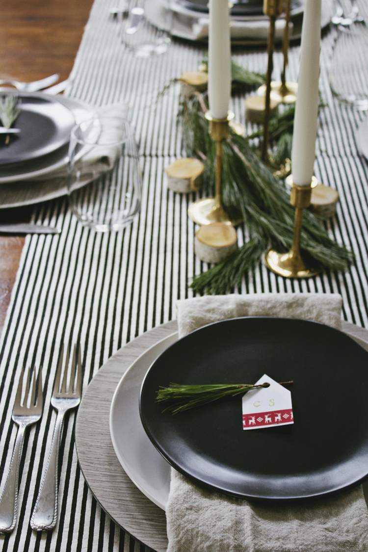 cena de navidad ideas contrastes elegante platos