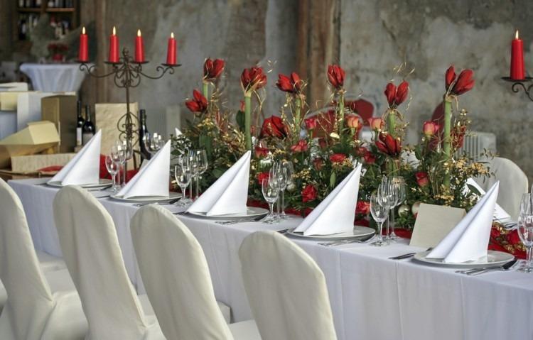 cena navidad centros mesa flores velas ideas