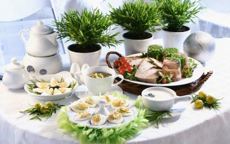 cena navidad centros mesa macetas blancas ideas
