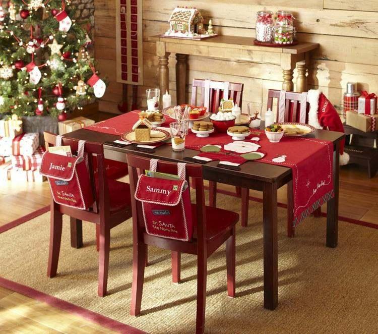 cena navidad centros mesa regalos sillas ideas