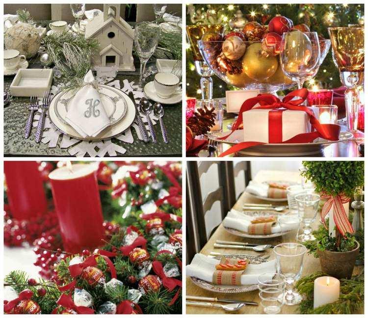 cena navidad centros mesa varias opciones ideas